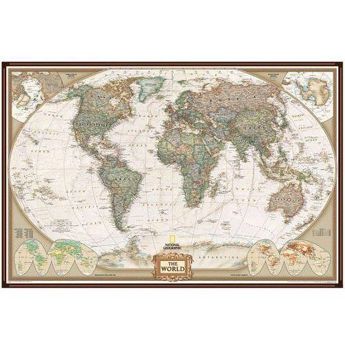 Świat. Mapa ścienna polityczna Executive magnetyczna w ramie 1:38,9 mln wyd. , produkt marki National Geographic