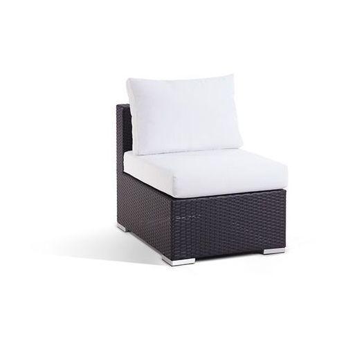 Pojedynczy rattanowy fotel bez podlokietników z poduchami - GRANDE ze sklepu BELIANI.PL