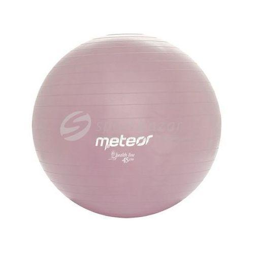 PIŁKA GIMNASTYCZNA METEOR 45cm Z POMPKĄ j.fioletowa 31125, produkt marki Meteor