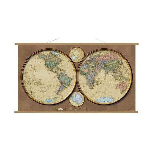 Świat na dwóch półkulach. Mapa ścienna polityczna 1:37 330 000 wyd. , produkt marki National Geographic