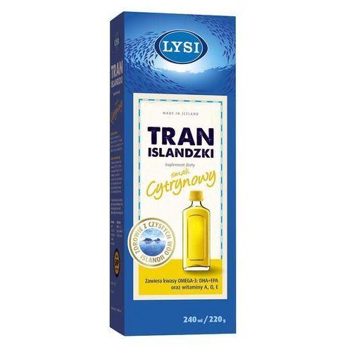 Tran Islandzki Lysi o smaku cytrynowym 240ml, postać leku: płyn