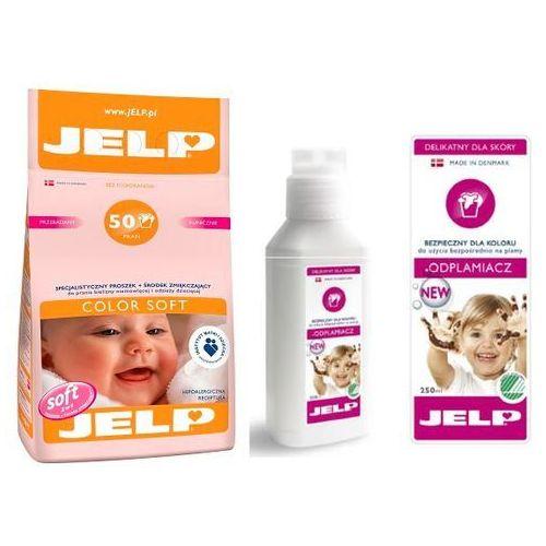 Zestaw JELP: Hipoalergiczny proszek Color Soft 4kg + Odplamiacz 250ml, Jelp z Bliżej Ciebie