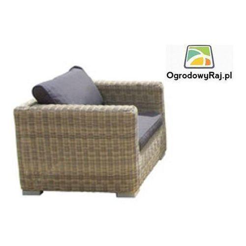 Fotel ogrodowy z podłokietnikami FLORENCE FLORENCE-FOTP-TR-NAT.BEZ/SZAR ze sklepu OgrodowyRaj.pl