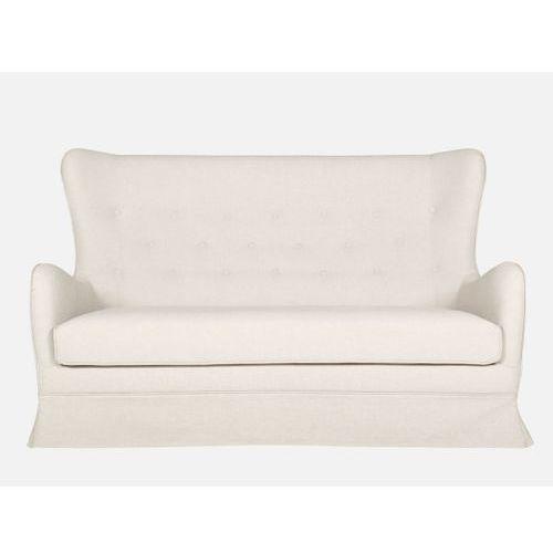 Sofa Charm 2,5 seater LILA 1 beige tkanina beżowa nogi drewno dąb  E1806-0300-2S-LILA1-91o, Sits