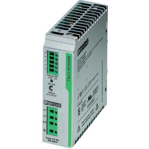 Artykuł Zasilacz na szynę Phoenix Contact TRIO-PS/3AC/24DC/5, 24 V,5A z kategorii transformatory