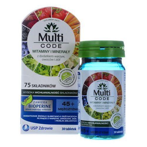 Multi CODE Mężczyźni 45+ x 30 tabl., postać leku: tabletki