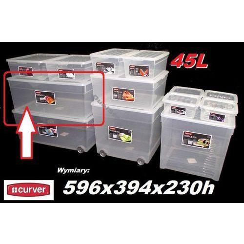 CURVER 45L 196065 pojemnik magazynowy z pokrywą 596x394x230h - produkt dostępny w organizery.eu