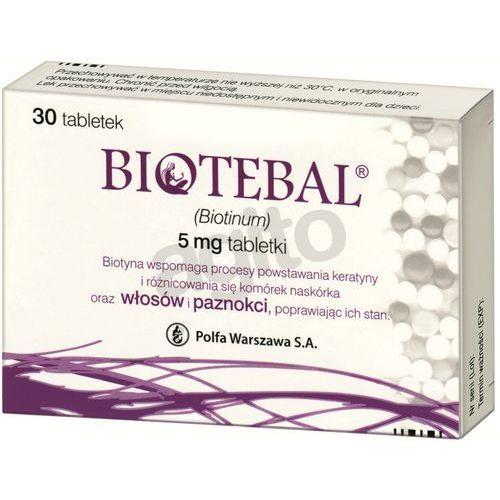 Biotebal tabl. 5 mg 30 tabl. (blistry), postać leku: tabletki