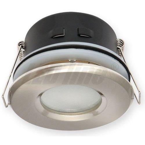 LED line Oprawa oprawka led halogenowa wodoodporna stała okrągła kolor satyna IP65 245442 z kategorii oświetlenie