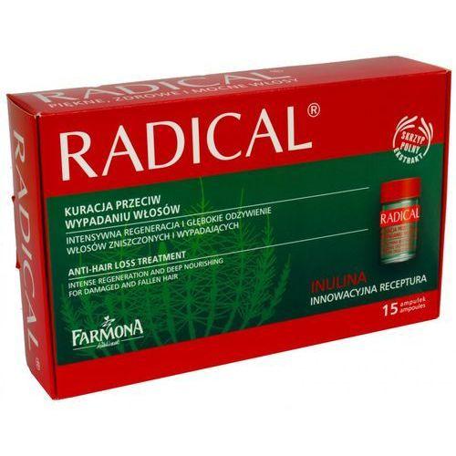 RADICAL Kuracja przeciw wypadaniu włosów 15x5ml/ Kompleks odżywczy do skóry głowy stymulujący wzrost włosów 15amp. po 5ml - produkt z kategorii- odżywki do włosów