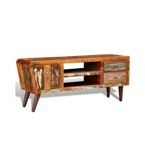 Drewniana półka pod TV vintage z drzwiami i 2 szufladami, marki vidaXL do zakupu w VidaXL