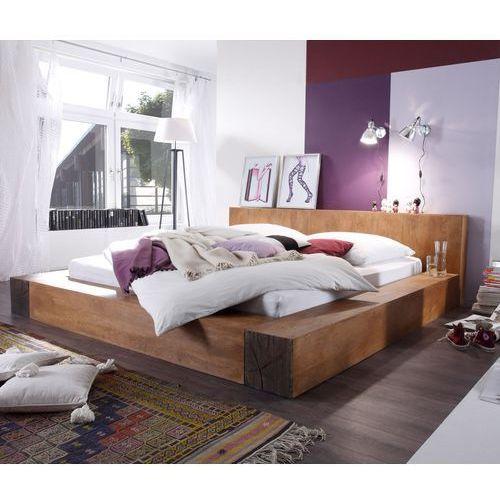 Łóżko Creed 180x200 cm, drewno mango, rustyklane ze sklepu FUTURI Nowoczesne Meble