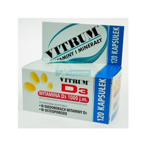 Vitrum D3 x 120 kaps., postać leku: kapsułki