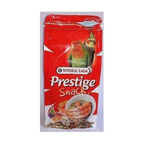 Prestige Snack Parakeets 125g przysmak z biszkoptami i owocami dla średnich papug, Versele-Laga