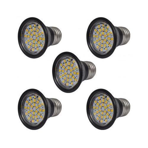 Halogeny, żarówki w czarnej obudowie, 5 sztuk (3W E27) z kategorii oświetlenie