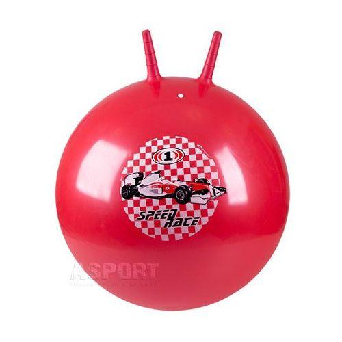 Piłka skacząca z rogami 60cm RACE BALL czerwona , produkt marki Spokey