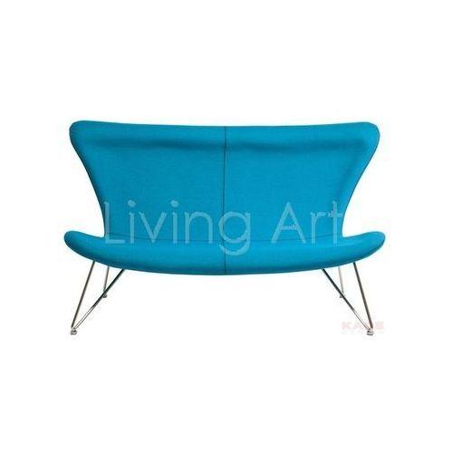 Sofa Miami Turquoise 3-Seater, kare design