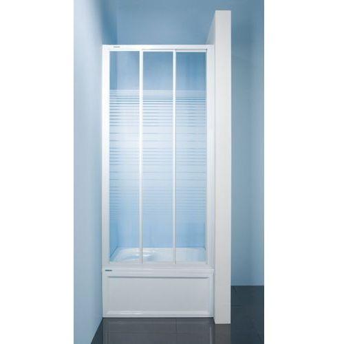 Sanplast Classic DTr-c Drzwi prysznicowe - 100/185 biały Sitodruk W4 600-013-1711-10-410 - odbiór osobisty: