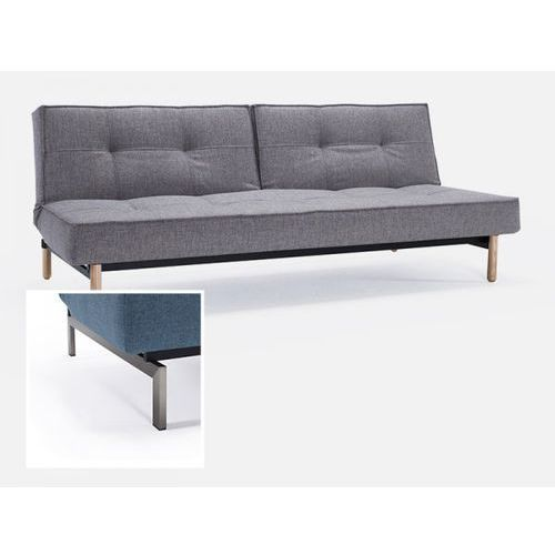 Sofa Splitback szarobeżowa 521 nogi stalowe  741010521-741010-8-2, INNOVATION iStyle