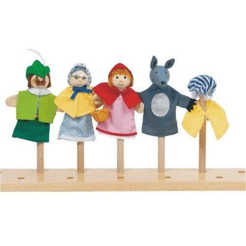 Zestaw pacynek na palec - Czerwony Kapturek dla dzieci (pacynka, kukiełka)