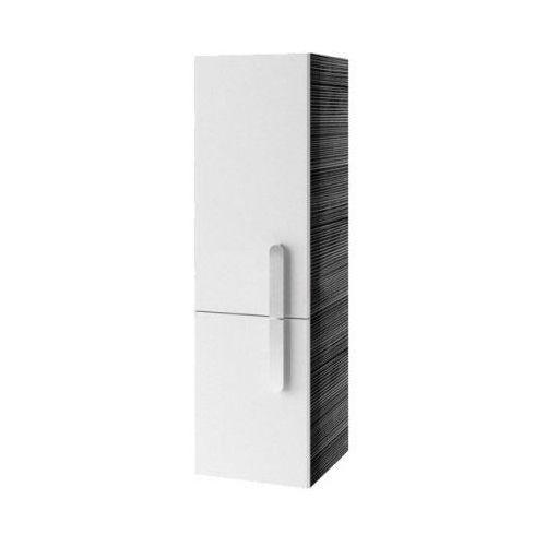 Produkt z kategorii- regały łazienkowe - CHROME - Słupek SB 350 biały/Strip Onyx, lewy