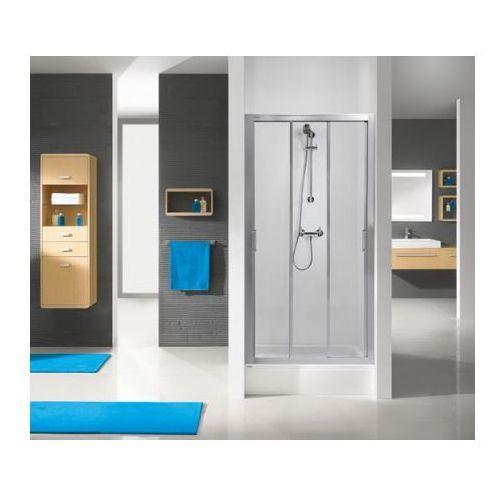 Sanplast Aspira DTr/ASPII Drzwi prysznicowe - 100/190 biały Szkło przezroczyste 600-032-1140-01-401 - odbió