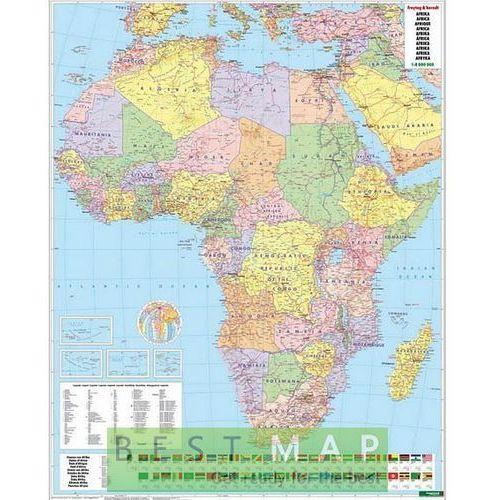 Afryka. Mapa ścienna polityczna w ramie 1:8 mln wyd. , produkt marki Freytag&Berndt