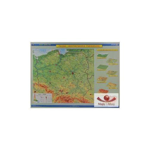 Polska fizyczna. Mapa ścienna. Ukształtowanie powierzchni / Krajobrazy, produkt marki Nowa Era