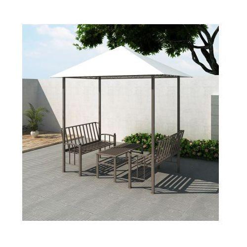 Pawilon ogrodowy, altana, stół i ławki (2,5 x 1,5 x 2,4 m) - produkt z kategorii- namioty ogrodowe