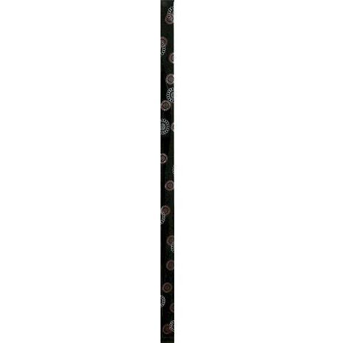 Listwa Charme Nero Kwiaty Szklana 1,5x50 gat.I (glazura i terakota)