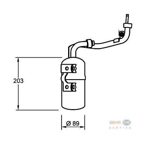 Towar z kategorii: osuszacze powietrza - Osuszacz, klimatyzacja HELLA 8FT 351 335-061