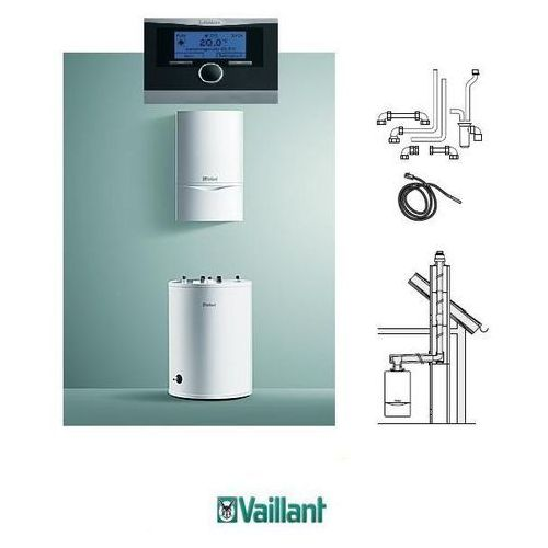 Towar z kategorii: kotły gazowe - VAILLANT pakiet VC 206/5-5 + VIH R 120 + Calor Matic 470 + zestaw do szachtu