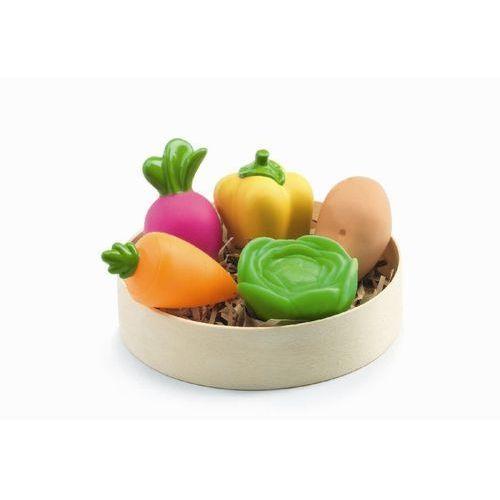 Warzywa w drewnianej tacy Djeco DJ06609 oferta ze sklepu tublu.pl