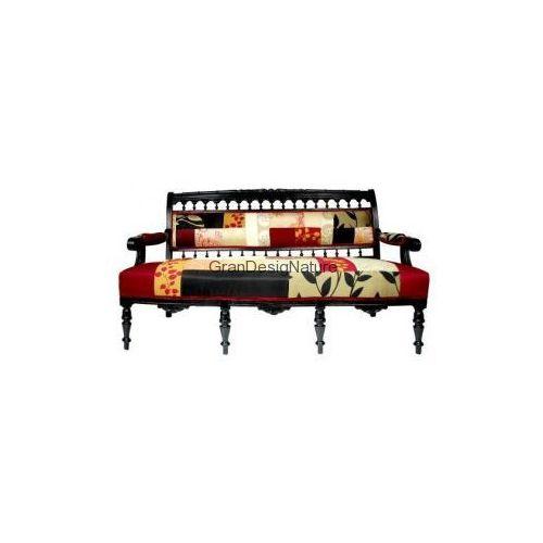 Kanapa Sofa Stylowa Eklektyczna Czerwień BLUCKBERRY