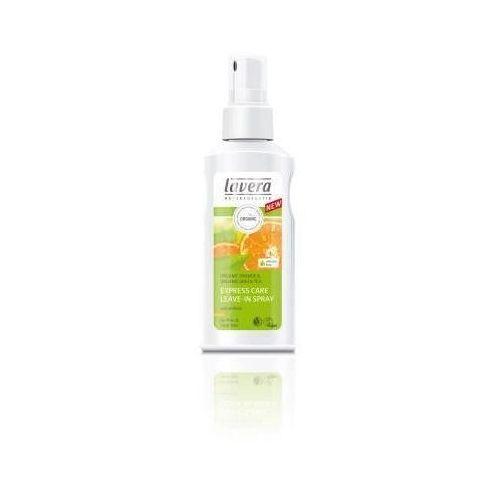 Produkt z kategorii- odżywki do włosów - Lavera spray nawilżający i nadający objętość do włosów cienkich i delikatnych z bio pomarańczą i kompleksem keratynowym 125 ml