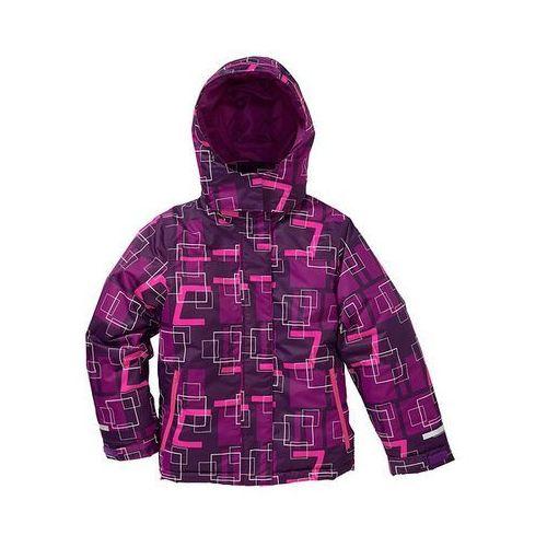 Kurtka narciarska termoaktywna  ciemny lila- piwonia-neonowy różowy, bonprix z bonprix
