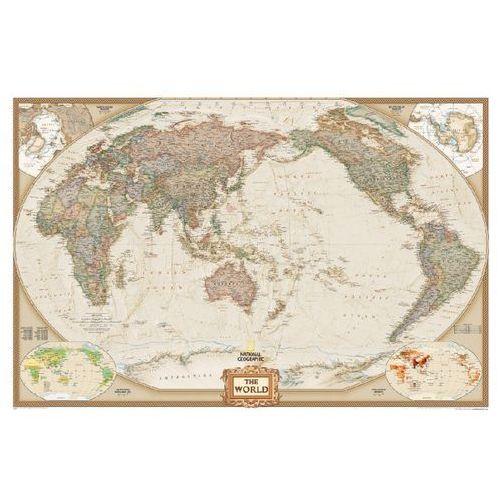 Świat. Mapa ścienna polityczna Pacific Centered Executive 1:36,4 mln wyd. , produkt marki National Geographic