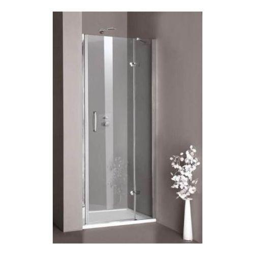 HUPPE AURA ELEGANCE - Drzwi skrzydłowe ze stałym segmentem do wnęki 400101 (drzwi prysznicowe)