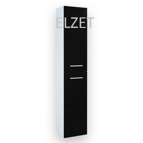 ELITA Kwadro Black słupek 2D z drzwiczkami 164591 - produkt z kategorii- regały łazienkowe