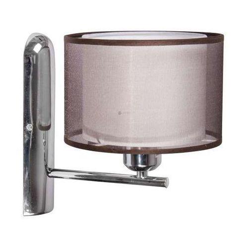 KINKIET abażurowy LAMPA ścienna OPRAWA do salonu PIANO  21-08930 beżowy, produkt marki Candellux