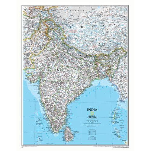 Indie. Mapa ścienna Classic magnetyczna w ramie 1:5,5 mln wyd. , produkt marki National Geographic