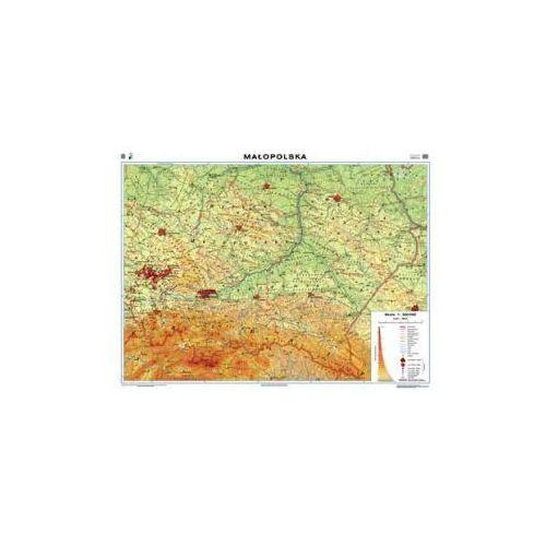 Małopolska. Mapa regionalna ogólnogeograficzna / krajobrazowa. Mapa ścienna Małopolski, produkt marki Nowa Era