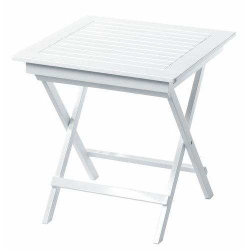 Stolik składany Cinas York biały połysk 70x70 cm (stół ogrodowy)