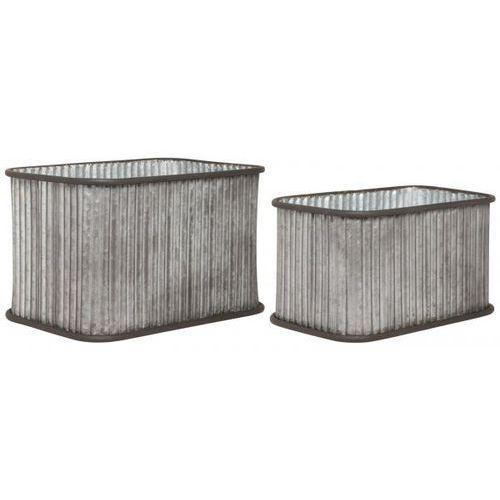 Doniczki Prostokątne W Małe Rowki (2sz)  4036-18, produkt marki Ib Laursen