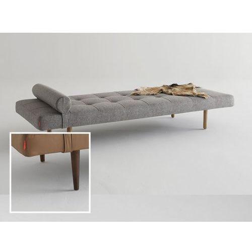 Sofa Napper szarobeżowa 521 nogi ciemne drewno  740030521-740031-3, INNOVATION iStyle
