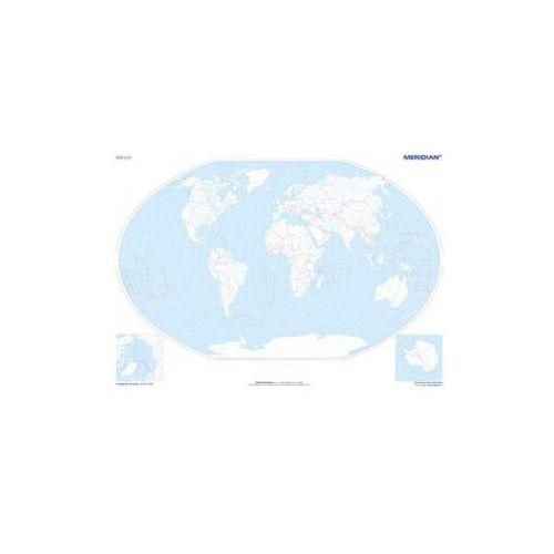 Produkt Świat konturowy. Mapa ścienna świata, marki Meridian