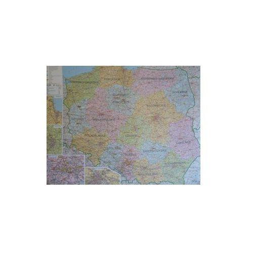 Polska mapa ścienna administracyjno-drogowa 1:800 000 Ekograf, produkt marki Eko-Graf