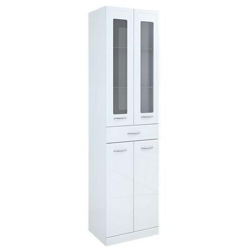 Produkt z kategorii- regały łazienkowe - Elita Aqua Line słupek łazienkowy z witryną szklaną 50x35,5x187