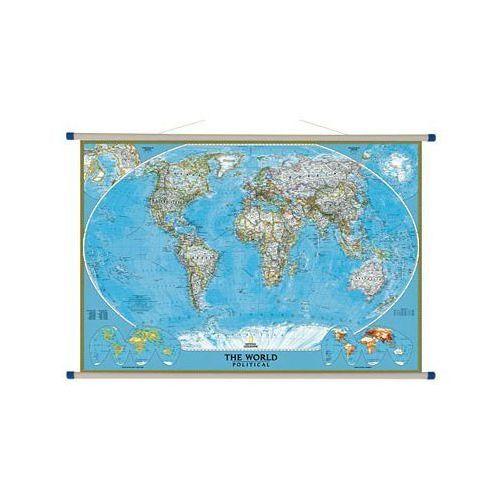 Świat. Mapa ścienna polityczna Classic 1: 24 mln wyd. , produkt marki National Geographic