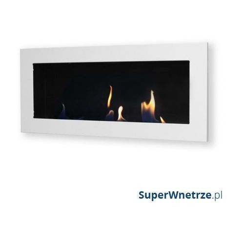 Biokominek dekoracyjny prostokątny 90x40 EcoFire Flat biały - oferta [350448712775c5f3]